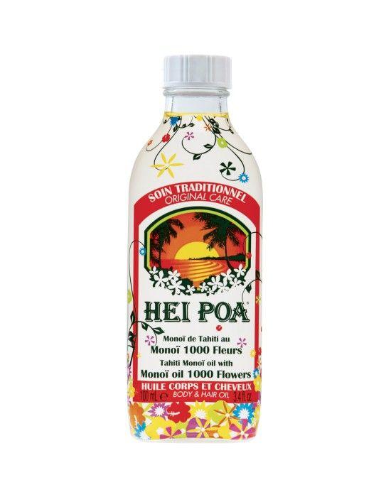 HP_MONOIOIL1000FLOWERS  Λάδι Monoi με 1000 άνθη, που δημιουργείται με διαβροχή λουλουδιών Tiare, Frangipani, Ιβίσκου, Kau Pe, Ylang-Ylang και λωτού μέσα σε λάδι καρύδας.
