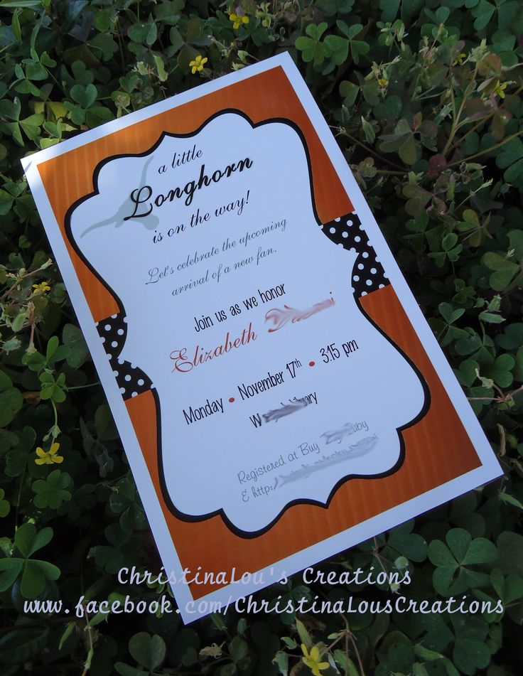 Little Longhorn Inspired Baby Shower Invitation {Texas Longhorn Theme - Unknown Gender}