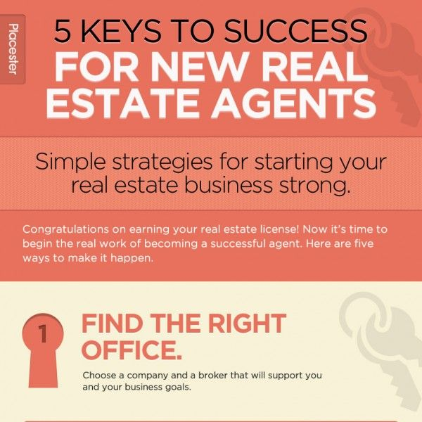 [Infographic] 5 Keys to Success for New Real Estate Agents