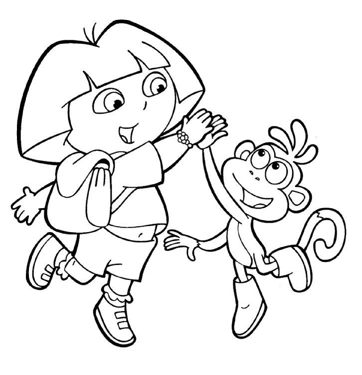 Dora The Explorer Coloring Pages 23