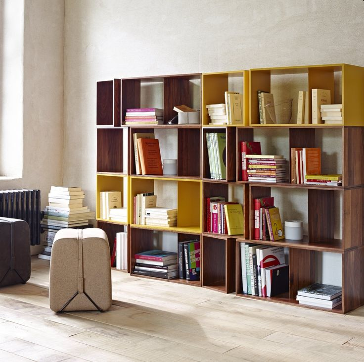 New colours available for 2015 for the popular Cuts by Phillippe Nigro. Each individual module can be stacked to create a freestanding storage unit.