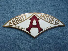 ABBOTT Detroit Motor radiator badge emblem vintage