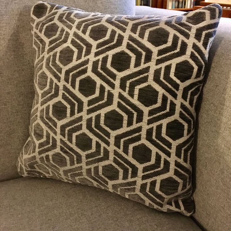 Scatter cushion in geometric grey print by woodenwedge on Etsy https://www.etsy.com/uk/listing/556534613/scatter-cushion-in-geometric-grey-print