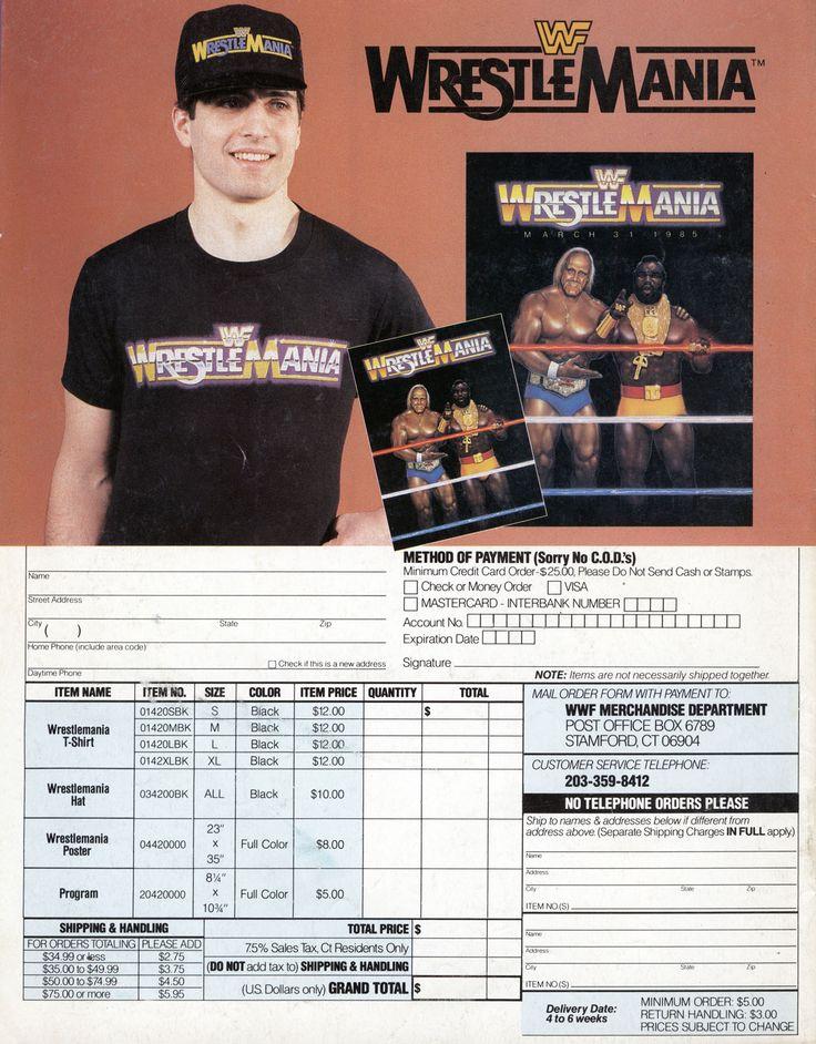 vintage   Wwf, magazine wwf t-shirt ad Mastercard Ads,
