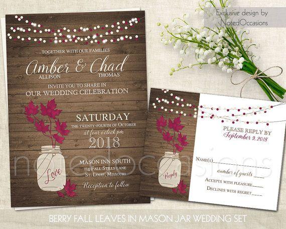 66 best Fall Wedding Invitations Rustic Chic images – Fall Rustic Wedding Invitations