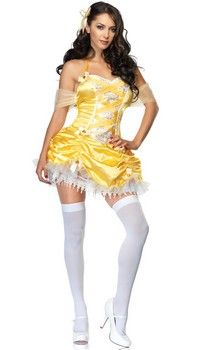 Sexy Belle Costume (more details at Adults-Halloween-Costume.com) #belle #BeautyAndTheBeast #fairytale #princess #halloween #costumes