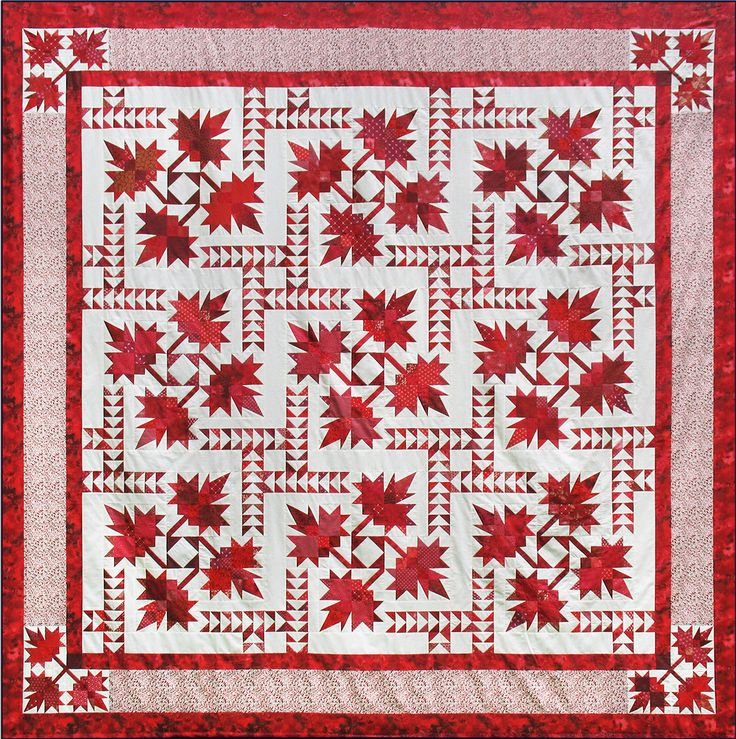 Northern Neighbours. This beautiful quilt featuring intricate maple leaves and flying geese celebrates our Northern Neighbours. You'll use Deb's Corner Beam, Split Rects, and Wing Clipper 1 tools to make this captivating quilt.