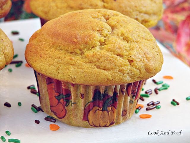 Pumpkin Spice Muffins / Μάφινς Κολοκύθας | Cook And Feed
