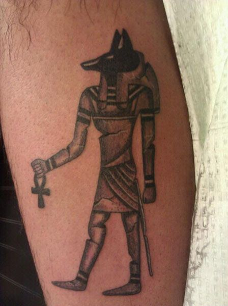 egyptian dog tattoo - photo #8