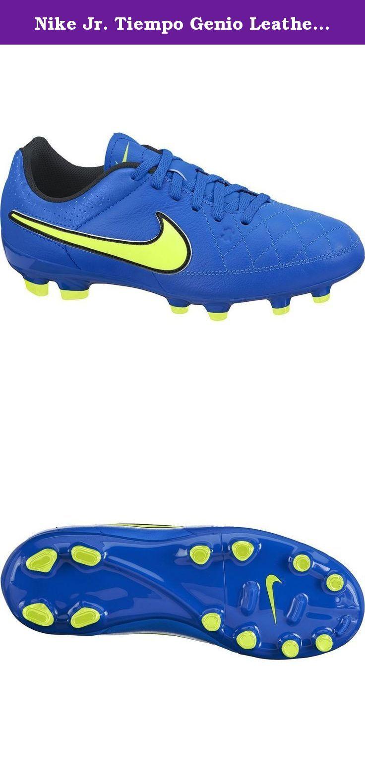 Nike Jr. Tiempo Genio Leather FG Soccer Cleat (Soar Blue) Sz. 5Y. Leather kids cleats.