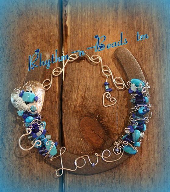 beaded horseshoes | Beaded Horseshoe- MY HEART BELONGS TO YOU NEW!-