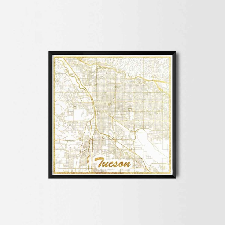 Tucson map posters are high quality map art prints of a great city. Perfect for the house and office or as a gift for a friend.