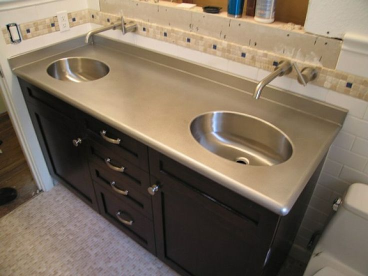 Stainless Steel Bathroom Countertop Design