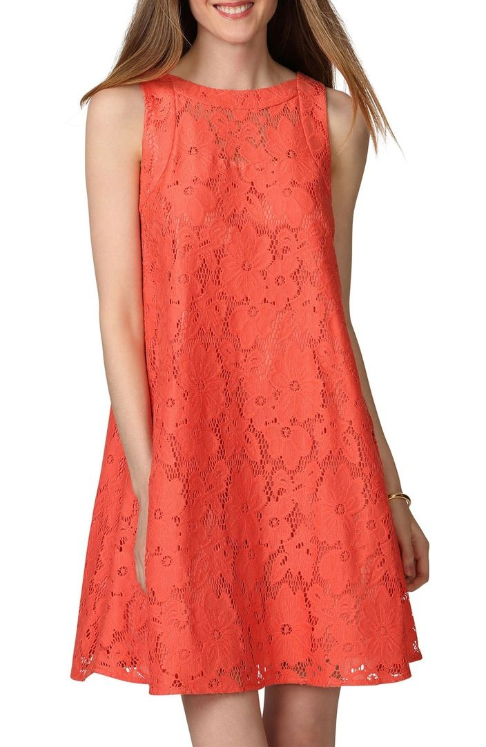Main Image - Donna Morgan Floral Lace Swing Dress