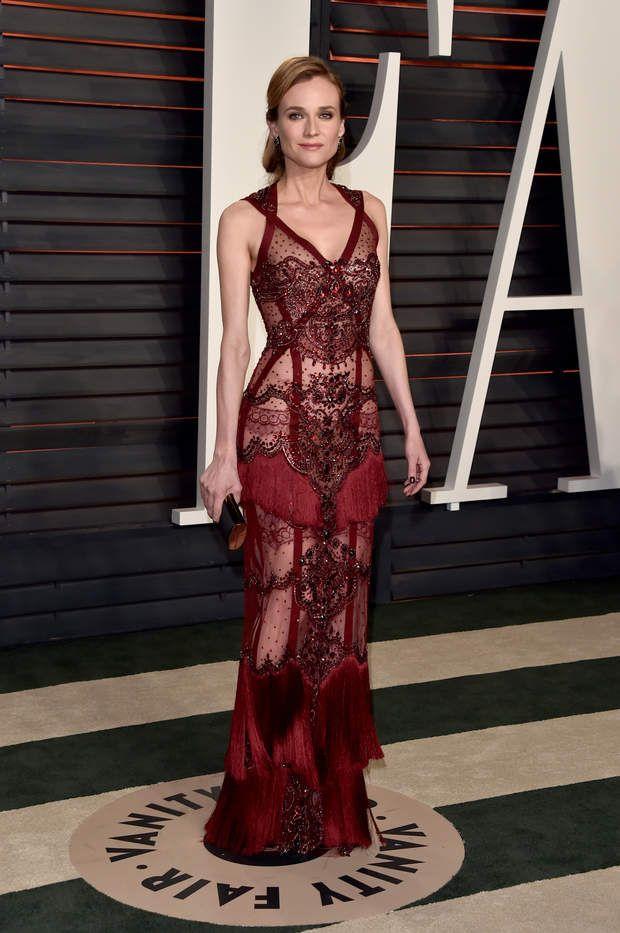 Soirée Vanity Fair Oscars 2016 : Diane Kruger aussi sublime que d'habitude, et on ne s'en lasse pas