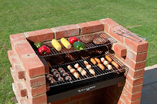 BKB402 Brick Bbq Kit with Warming Rack & Cover