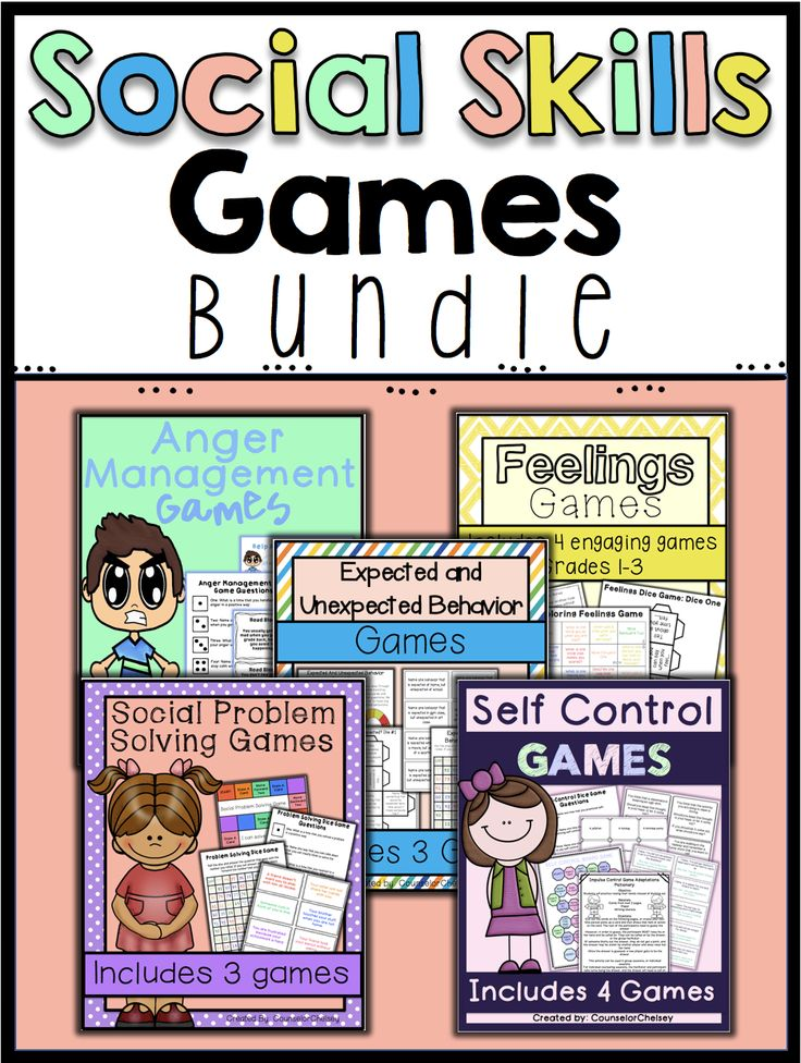 Help your students learn important social skills such as anger management, social problem solving, self control, feelings/emotions, and expected and unexpected behaviors with these fun and engaging games. These social skills games are great for counseling small groups or classroom guidance lessons!