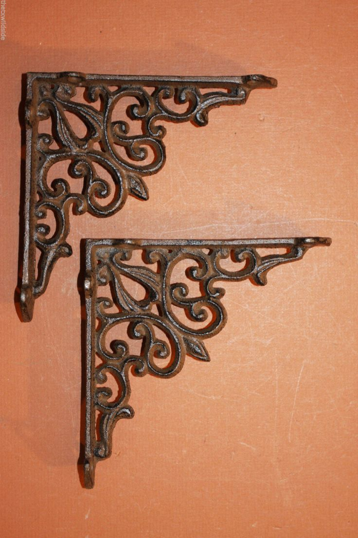 brackets metal excellent wrought shelf for storage superb cast amazoncom uk ornate decor shelves iron trendy decorative design