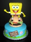 Spongebob cake: Decorated Sweets, Spongebob Cake, Hayden S 3Rd, Gigi Bday, 3Rd B Day, Party Cakes, Coltons Stuff, Birthday Party