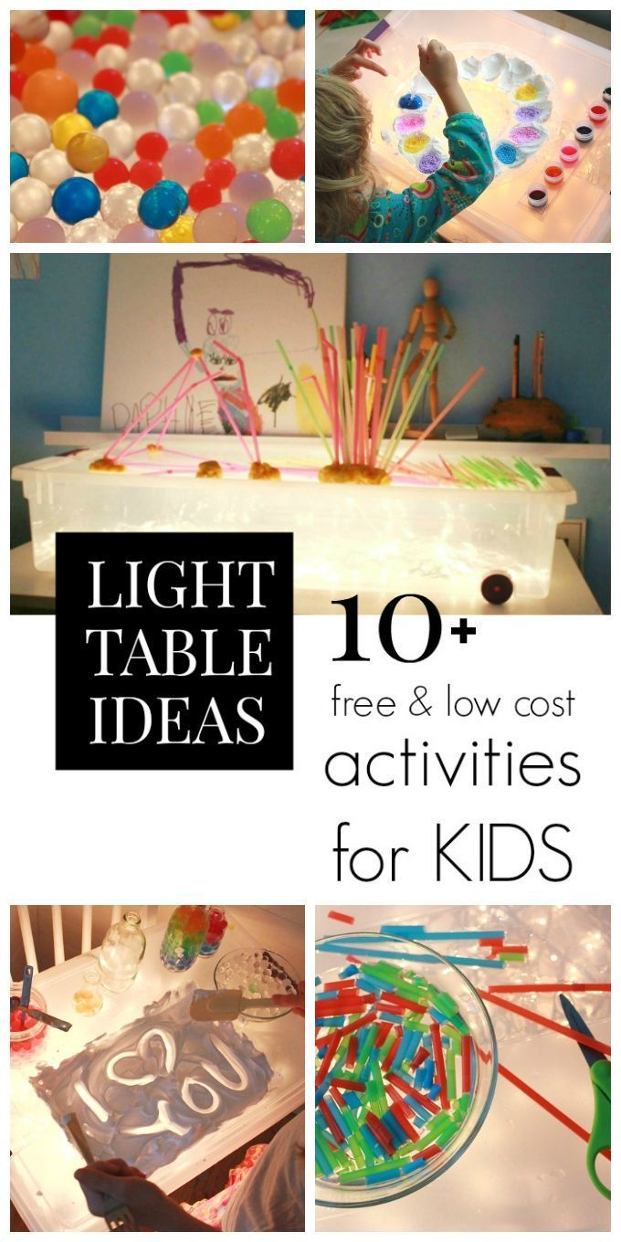 Child craft light table - Free And Cheap Light Table Activities For Kids That Are Also Fun And Educational