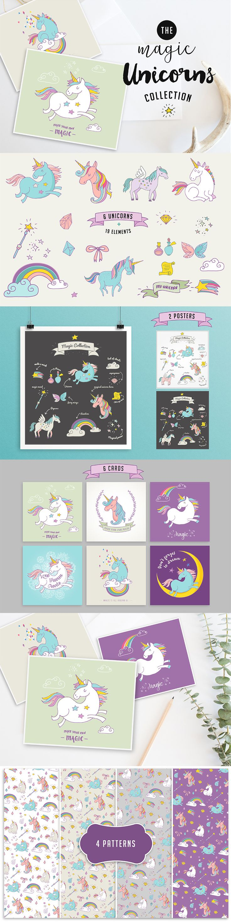 The Creative Designer's Complete Illustration Kit #unicorn