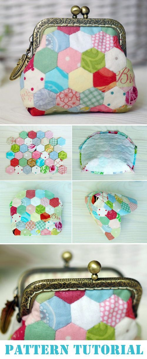 Patchwork Coin Purse Bag. Tutorial and Pattern ~ D…