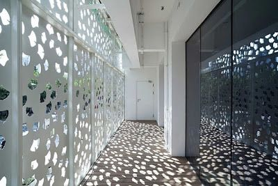 perforated metal glass detail google search perforated