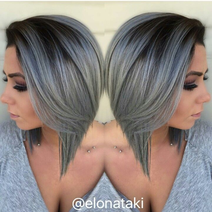 Dark roots and grey hair                                                                                                                                                     More