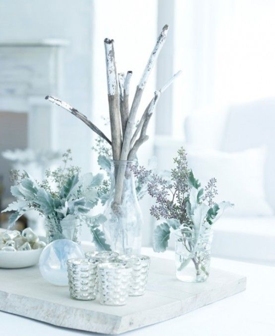 17 best ideas about silver christmas decorations on pinterest christmas trees xmas and silver - Red and silver centerpiece ideas ...