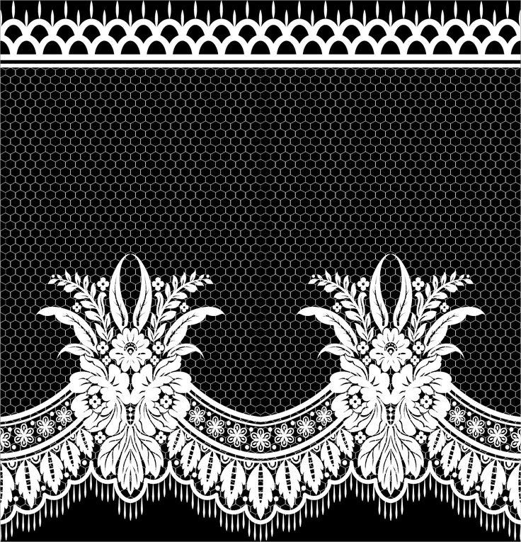 Lace seamless borders vectors set 03