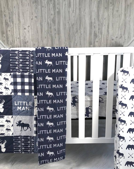 Baby Nursery Bedding Set Baby Woodland Moose Bear Etsy Baby Boy Room Nursery Nursery Room Boy Baby Nursery Bedding