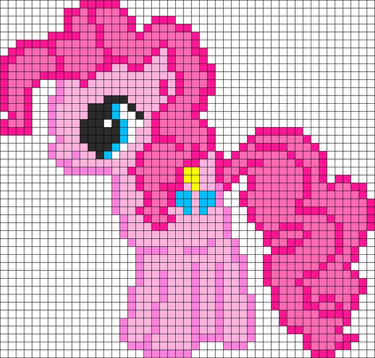 Pinkie Pie My Little Pony Perler Bead Pattern / Bead Sprite