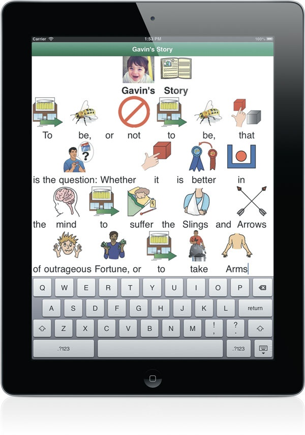 SymbolSupport App, $59.99, add symbols and speech to text ...