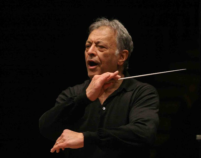 Zubin Mehta (ज़ुबिन मेहता) (1936 - ) is an Indian Parsi conductor of western classical music. He is the Music Director for Life of the Israel Philharmonic Orchestra.