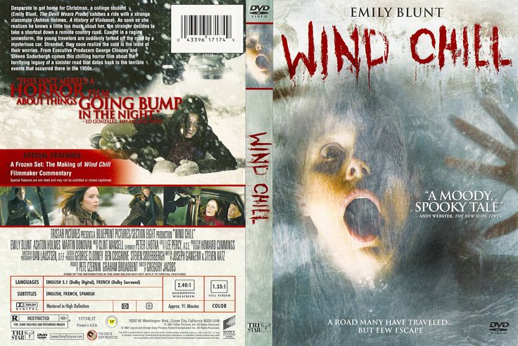 Wind Chill (2007) R1 - Movie DVD - CD label, DVD Cover, Front Cover