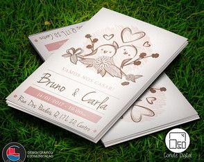 Convite Digital Casamento Pássaros Vint.