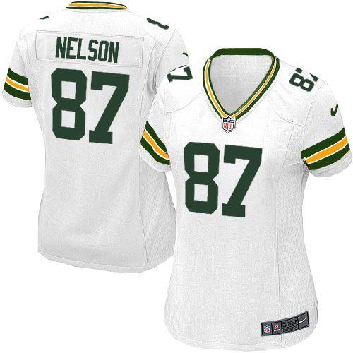 Women's White Nike Game Green Bay Packers #87 Jordy Nelson NFL Jersey $69.99