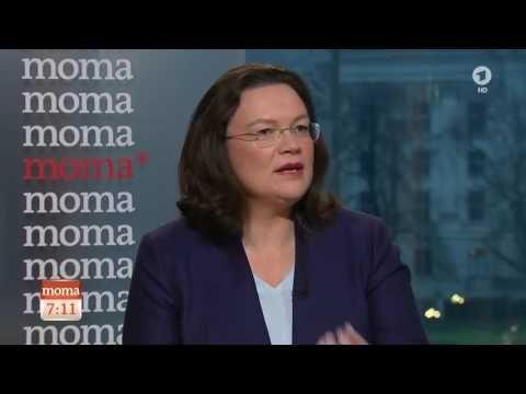 Andrea Nahles, SPD, im Interview mit Christiane Meier, ARD-Hauptstadtstu...