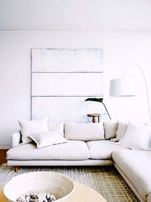 crisp whites | get the look with a Soft White Belgian Linen slipcover from Bemz for an IKEA Söderhamn sofa | www.bemz.com