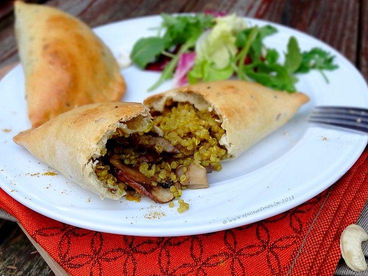 Chaussons aux quinoa, champignons et curry