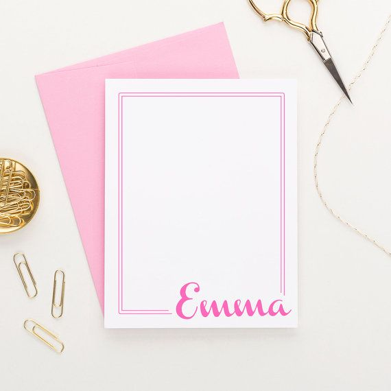 Personalized Stationery // Personalized by ModernPinkPaper on Etsy