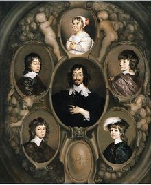 Constantijn Huygens and his children, including Christiaan, characters in The Warlock & the Wolf