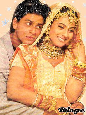 SRK and Kajol in Kuch Kuch Hota Hai.