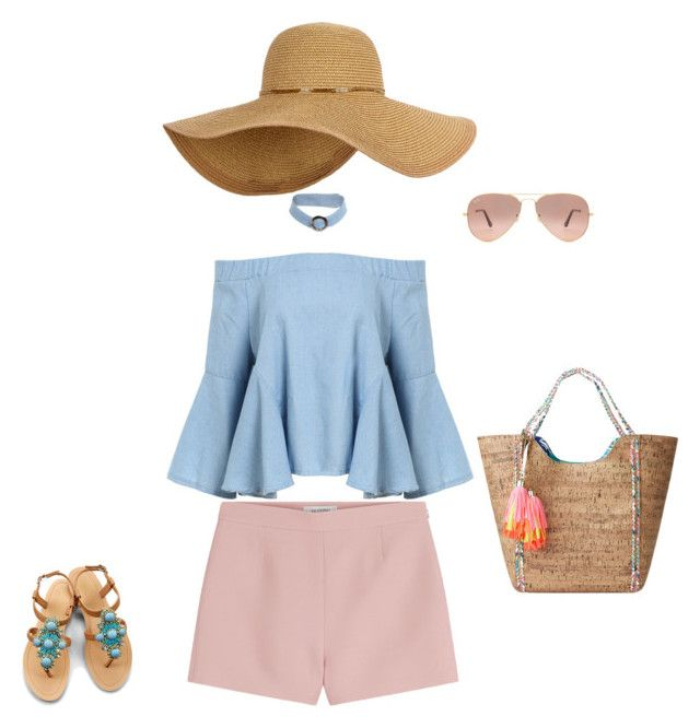 """""""Ladylike teeanager"""" by georgi-medrea on Polyvore featuring Valentino, Lilly Pulitzer, OLIVIA MILLER and Ray-Ban"""