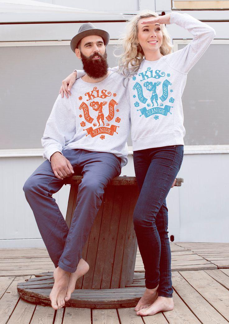 kocha lubi szanuje miłość para małżeństwo we dwoje zakochani bluzy dla pary takie same