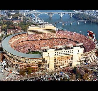 Neyland Stadium is the home of University of Tennessee football. Neyland Stadium has housed over 22 million fans since the 1950 football season, when official attendance records began being kept.