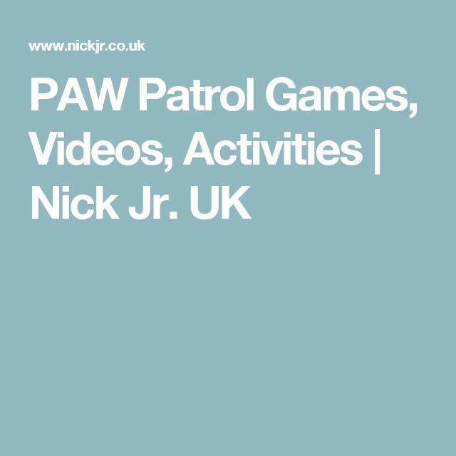 PAW Patrol Games, Videos, Activities | Nick Jr. UK