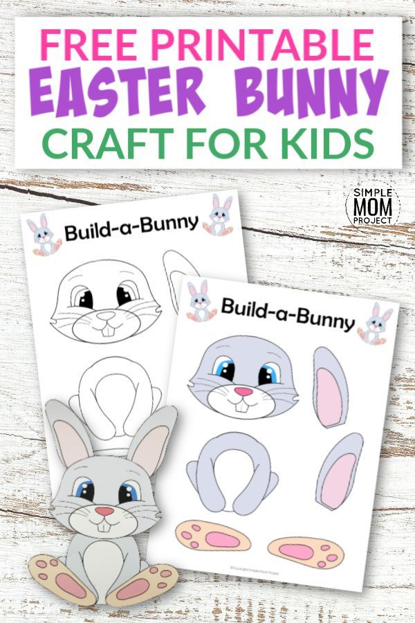 Free Printable Build An Easter Bunny Craft For Kids Bunny Crafts