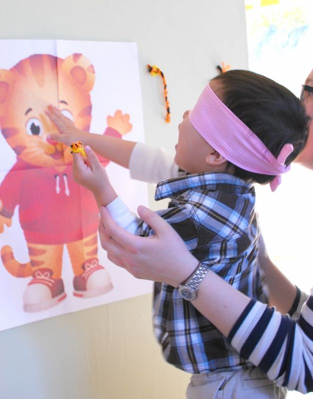 pin the tail on Daniel Tiger
