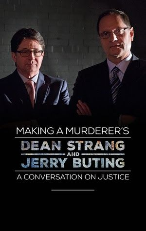 """NEWS: The defense attorneys, Dean Strang and Jerry Buting, for Steven Avery in the Netflix documentary series Making A Murderer, have announced a multi-city speaking tour, called """"A Conversation on Justice,"""" for April through August. The tour will involve conversation about the Steven Avery case, discussion on the American criminal justice system, and a Q&A. Details at http://digtb.us/1UJG6WW"""